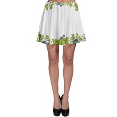 Birthday Card Flowers Daisies Ivy Skater Skirt