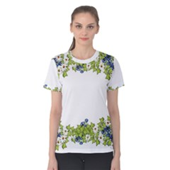 Birthday Card Flowers Daisies Ivy Women s Cotton Tee