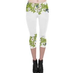 Birthday Card Flowers Daisies Ivy Capri Leggings