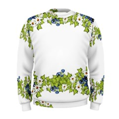 Birthday Card Flowers Daisies Ivy Men s Sweatshirt