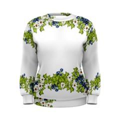 Birthday Card Flowers Daisies Ivy Women s Sweatshirt