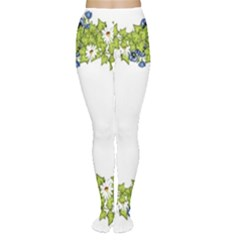 Birthday Card Flowers Daisies Ivy Women s Tights