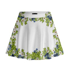 Birthday Card Flowers Daisies Ivy Mini Flare Skirt