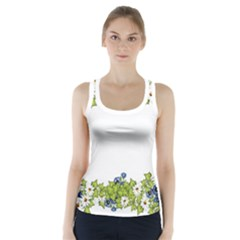 Birthday Card Flowers Daisies Ivy Racer Back Sports Top