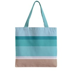 Dachis Beach Line Blue Water Grocery Tote Bag