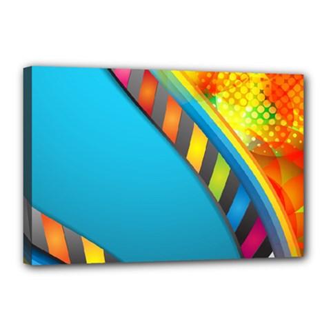 Color Dream Polka Canvas 18  x 12