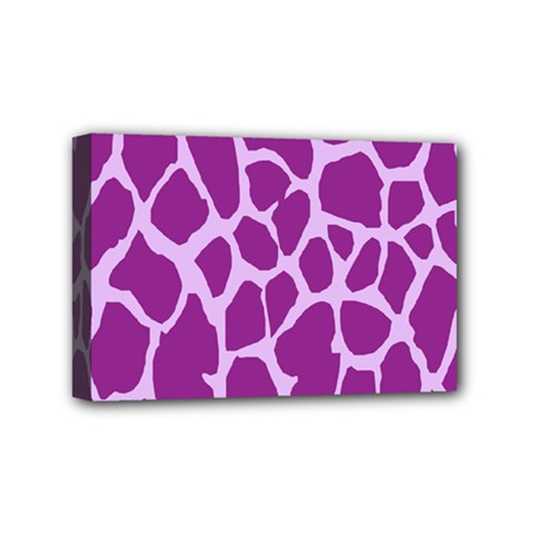 Giraffe Skin Purple Polka Mini Canvas 6  X 4