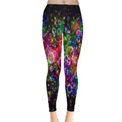 Colorful Bubble Shining Soap Rainbow Leggings