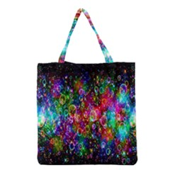 Colorful Bubble Shining Soap Rainbow Grocery Tote Bag