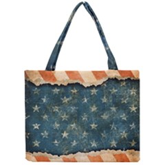 Grunge Ripped Paper Usa Flag Mini Tote Bag