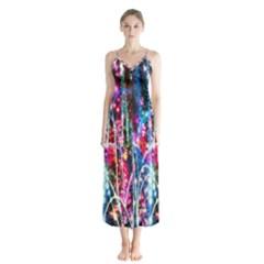 Fireworks Rainbow Chiffon Maxi Dress