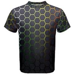 Hexagons Honeycomb Men s Cotton Tee