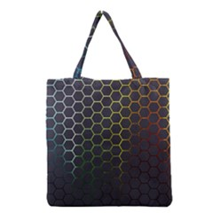 Hexagons Honeycomb Grocery Tote Bag