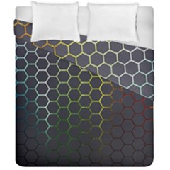 Hexagons Honeycomb Duvet Cover Double Side (california King Size)