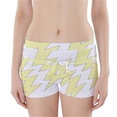 Lightning Yellow Boyleg Bikini Wrap Bottoms