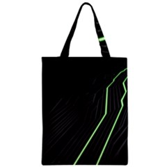 Green Lines Black Anime Arrival Night Light Classic Tote Bag