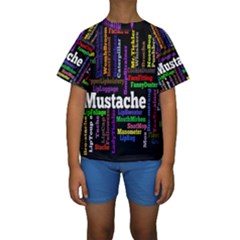Mustache Kids  Short Sleeve Swimwear