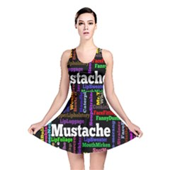 Mustache Reversible Skater Dress