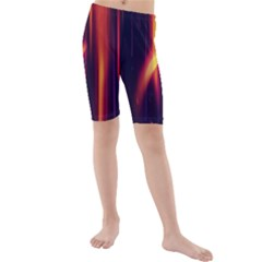 Perfection Graphic Colorful Lines Kids  Mid Length Swim Shorts