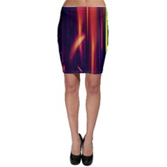 Perfection Graphic Colorful Lines Bodycon Skirt
