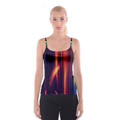 Perfection Graphic Colorful Lines Spaghetti Strap Top