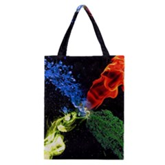 Perfect Amoled Screens Fire Water Leaf Sun Classic Tote Bag