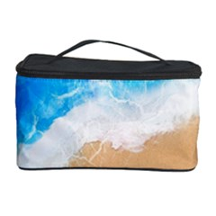 Sand Beach Water Sea Blue Brown Waves Wave Cosmetic Storage Case
