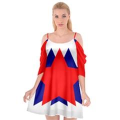 Stars Red Blue Cutout Spaghetti Strap Chiffon Dress