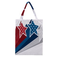 Star Red Blue White Line Space Classic Tote Bag