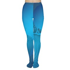 Fractals Lines Wave Pattern Women s Tights