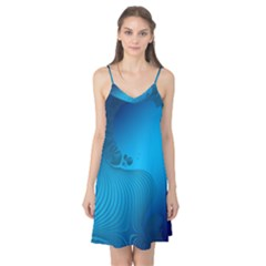 Fractals Lines Wave Pattern Camis Nightgown