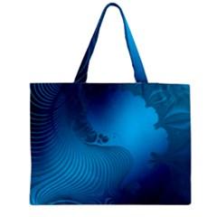 Fractals Lines Wave Pattern Medium Zipper Tote Bag