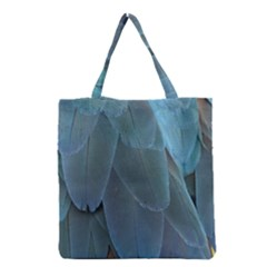 Feather Plumage Blue Parrot Grocery Tote Bag