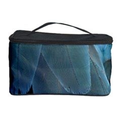 Feather Plumage Blue Parrot Cosmetic Storage Case
