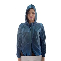 Feather Plumage Blue Parrot Hooded Wind Breaker (women)