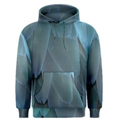 Feather Plumage Blue Parrot Men s Pullover Hoodie