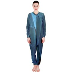 Feather Plumage Blue Parrot Onepiece Jumpsuit (ladies)