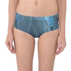 Feather Plumage Blue Parrot Mid Waist Bikini Bottoms