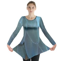 Feather Plumage Blue Parrot Long Sleeve Tunic