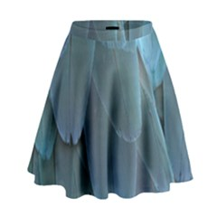 Feather Plumage Blue Parrot High Waist Skirt