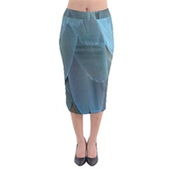 Feather Plumage Blue Parrot Midi Pencil Skirt
