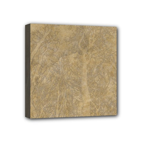 Abstract Forest Trees Age Aging Mini Canvas 4  x 4