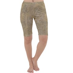 Abstract Forest Trees Age Aging Cropped Leggings