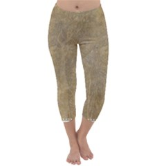Abstract Forest Trees Age Aging Capri Winter Leggings