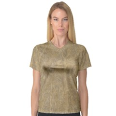 Abstract Forest Trees Age Aging Women s V-Neck Sport Mesh Tee