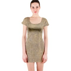Abstract Forest Trees Age Aging Short Sleeve Bodycon Dress