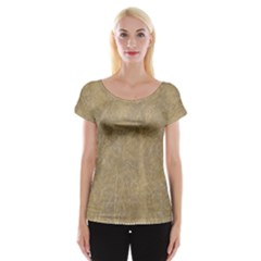 Abstract Forest Trees Age Aging Women s Cap Sleeve Top