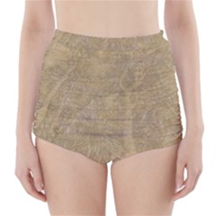 Abstract Forest Trees Age Aging High Waisted Bikini Bottoms