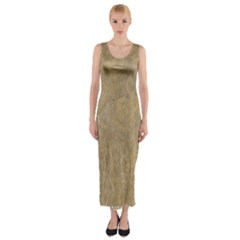 Abstract Forest Trees Age Aging Fitted Maxi Dress