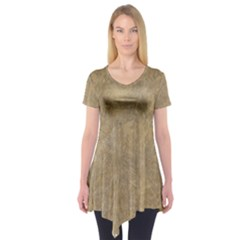 Abstract Forest Trees Age Aging Short Sleeve Tunic